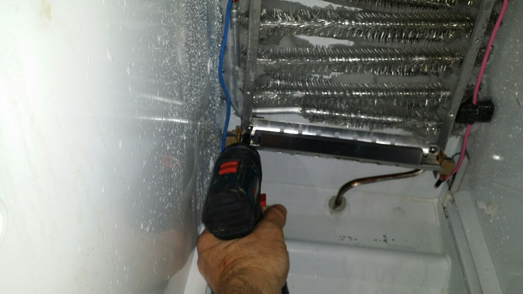 Defrost heater removal